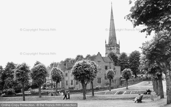 Bromsgrove, St John's Church And Council House c.1955