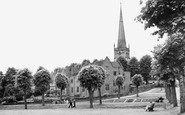 Bromsgrove, the Church and Council House c1955