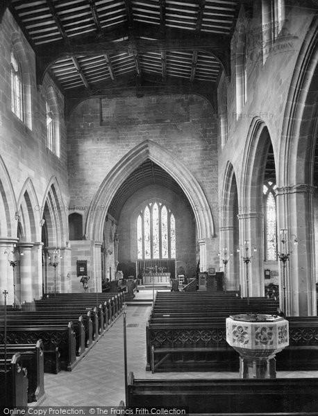 Bromsgrove, St John The Baptist Church, Interior 1931