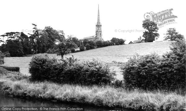Photo of Bromsgrove, Tardebigge Church and Canal c1955