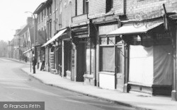 Bromsgrove, Worcester Street, Shops 1949