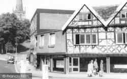 Bromsgrove, Ye Olde Shoppe And Church c.1965