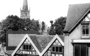 Bromsgrove, Ye Olde Shoppe And St John's Church c.1965