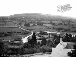 The Downs From Church Tower 1923, Bromyard