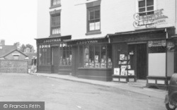 Bromyard, The Square, Shops 1952
