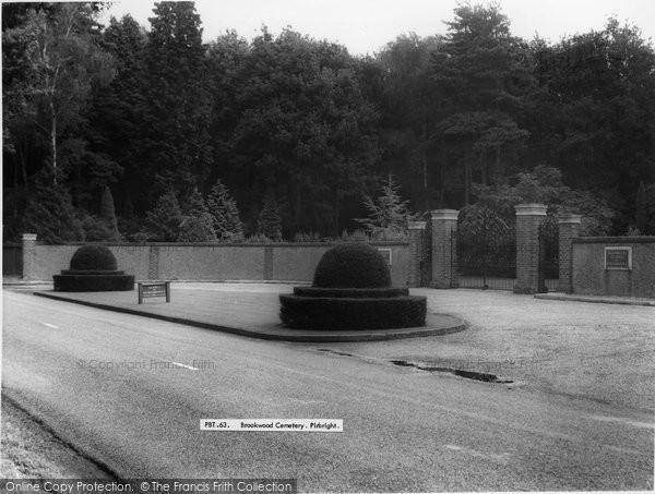 Brookwood, The Cemetery c.1960