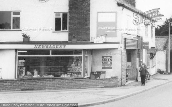Photo of Broughton Astley, Newsagent, Main Street c.1967