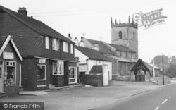 Broughton, High Street And Church c.1965