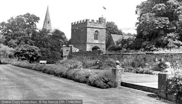 Photo of Broughton, The Gardens And Gatehouse c.1955