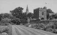 Broughton, The Gardens And Gatehouse c.1955
