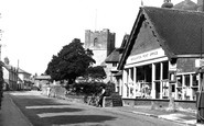 Broughton, The Post Office And St Mary's Church c.1955