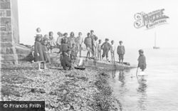 Broughty Ferry, Children On The Lifeboat Slipway c.1895