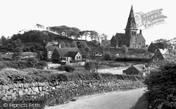 St Anne's Church And Schools c.1955, Brown Edge
