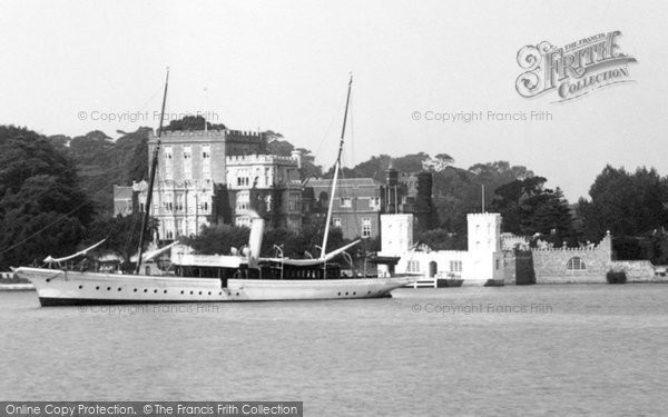 Photo of Brownsea Island, The Castle And Marconi's Steam Yacht 'elettra' 1904