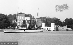 Brownsea Island, The Castle And Marconi's Steam Yacht 'elettra' 1904