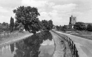 Broxbourne, St Augustine's Church And New River c.1955