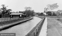 Broxbourne, The New River And St Augustine's Church c.1955
