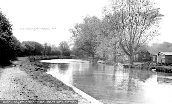 Broxbourne, The River Lea c.1955