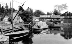 Brundall, Basin And Slipway c.1955