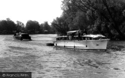 Brundall, Boating On The River Yare c.1965