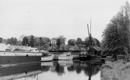 Brundall, Boats Moored In Cutting c.1965