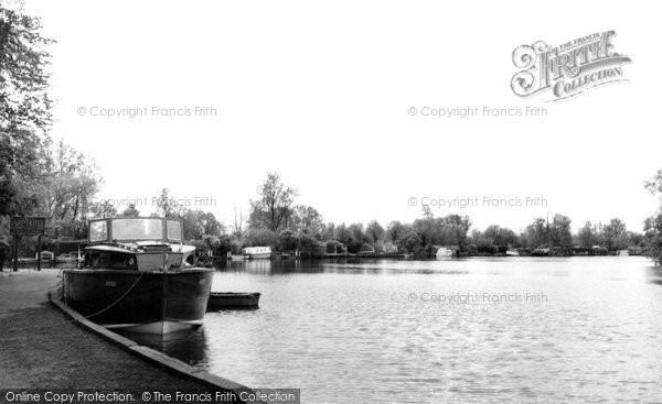 Brundall, Cruiser Moored c.1965