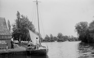 Brundall, on the River Yare c1965
