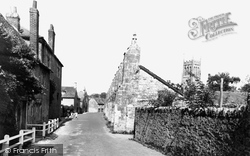 The Abbey Wall And Old House, Kings School c.1960, Bruton