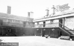 The Courtyard Sexey's Hospital c.1960, Bruton
