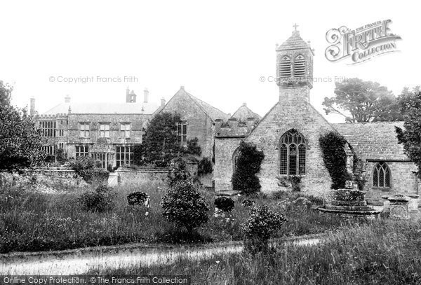 Brympton D'evercy, House And Church 1900