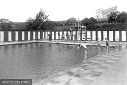 Brynamman, The Swimming Pool c.1950
