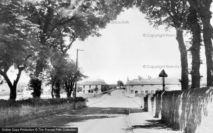 Brynford, Cross Road c1955