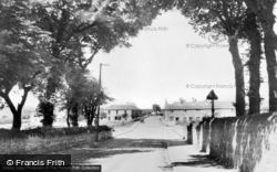 Brynffordd, Cross Road c.1955, Brynford