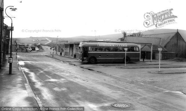 Photo of Brynmawr, the Bus Station c1965