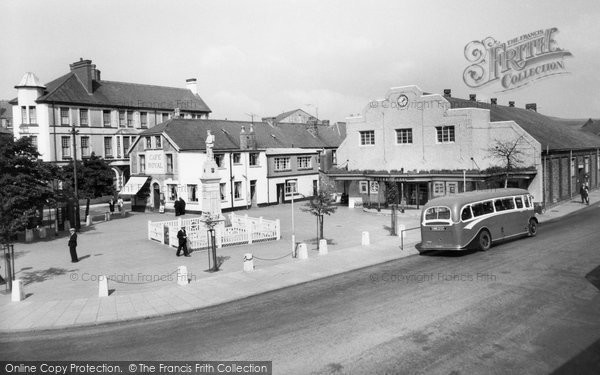 Brynmawr, The Market Square c.1955