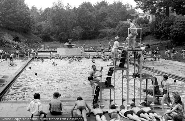 Brynmawr, The Swimming Pool c.1955