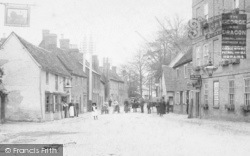 Buckden, People In High Street 1906