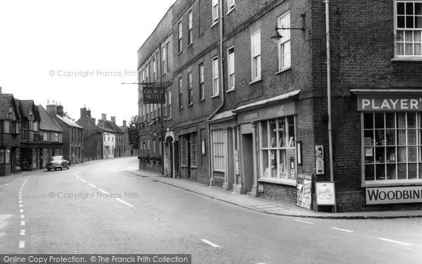 Buckden, Post Office And George Hotel c.1955