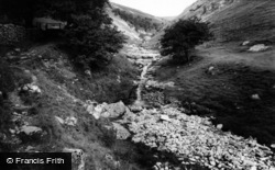 Buckden, The Ghyll And Waterfall c.1955