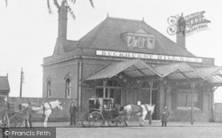 Buckhurst Hill, Horse-Drawn Carriages At The Station 1895