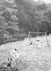 Buckingham, Children On Playground c.1950