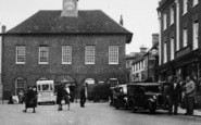 Buckingham, Market Place, People c.1950