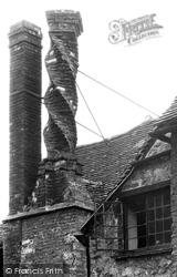 Buckingham, The Manor House, Twisted Chimney c.1955