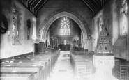 Buckland, Church Interior 1886