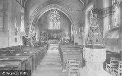 Buckland, Church Interior c.1900