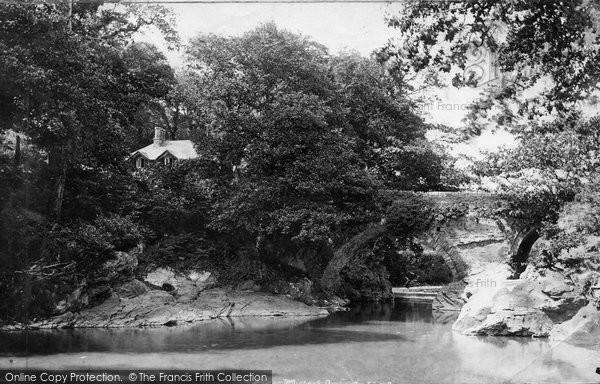 Buckland Monachorum, Denham Bridge And Cottage 1893