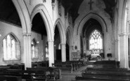 Buckland St Mary, The Church Interior c.1960
