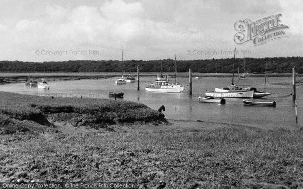 Bucklers Hard, The River Beaulieu c.1960