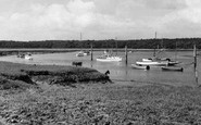 Bucklers Hard, The River Beaulieu c.1960