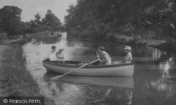 Bude, Boating On The Canal 1920